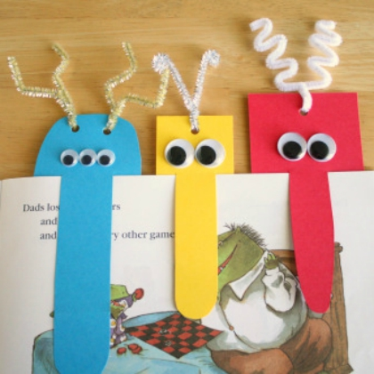 silly monster bookmarks