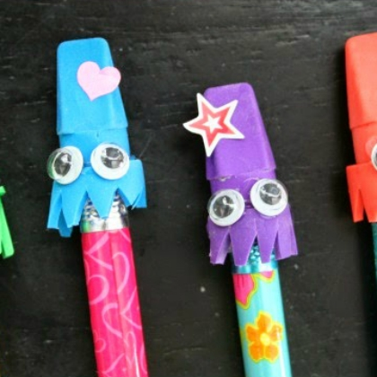 squid eraser toppers