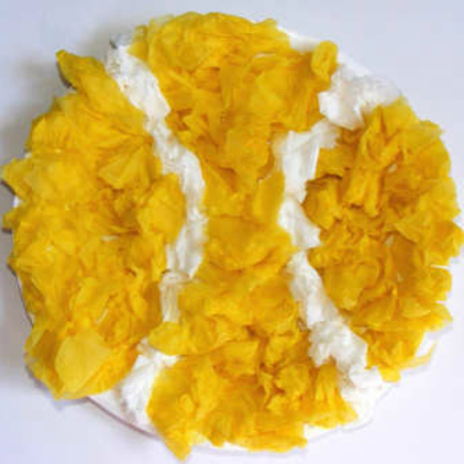 tissue paper tennis ball