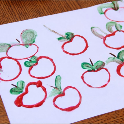 tp roll apple stamps