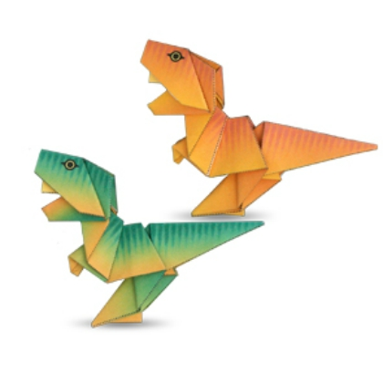 Origami Tyrannosaurus Rex (John Montroll) - Dinosaur #1 - YouTube | 420x420