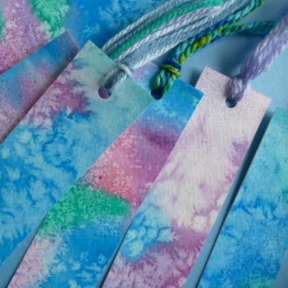 watercolor paper bookmark