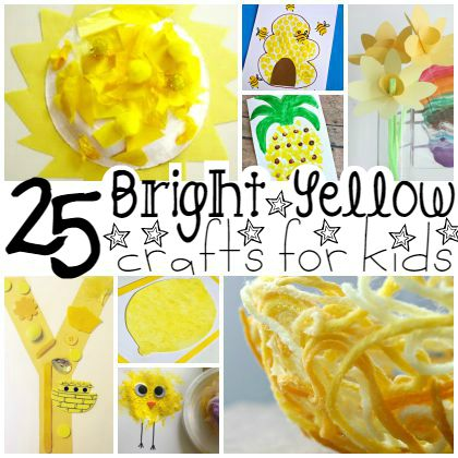 Yellow Craft Ideas For Toddlers