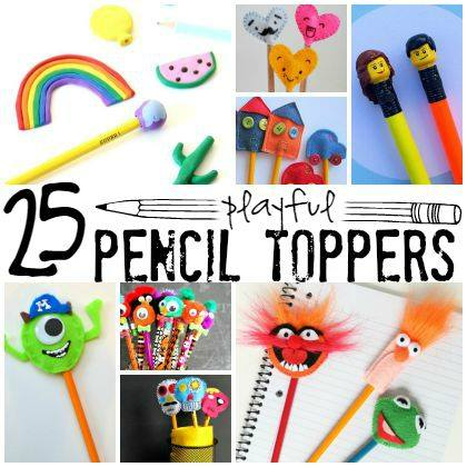 25 Playful Pencil Toppers for Kids