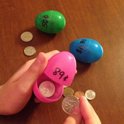 coin counting eggs