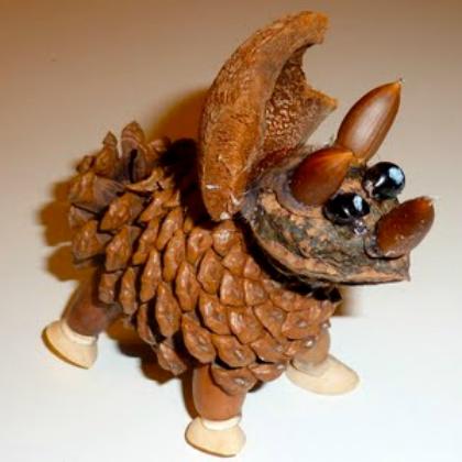 dinosaur pinecone