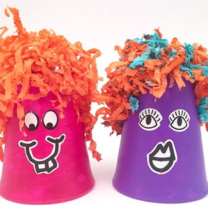 foam cup monsters