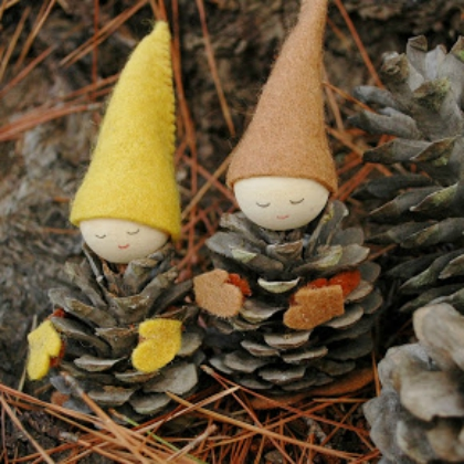 gnome pinecones