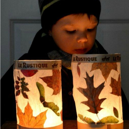 leaf lamp shades
