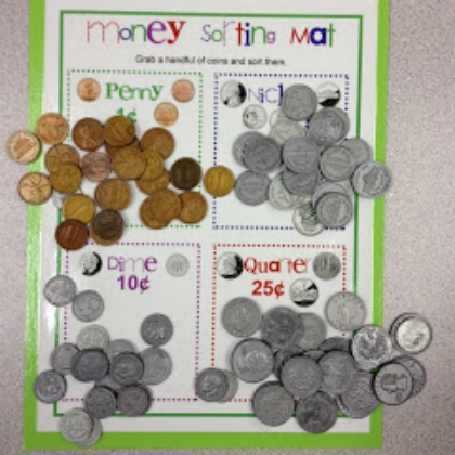 money sorting mat