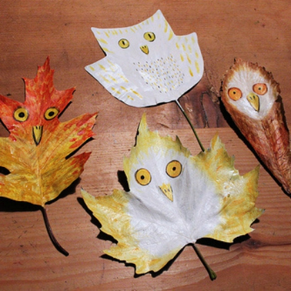 painted leaf owls