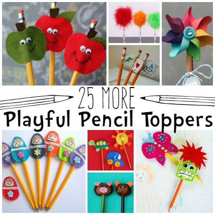 25 More DIY Pencil Toppers for Kids