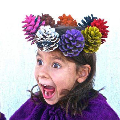 pinecone crown