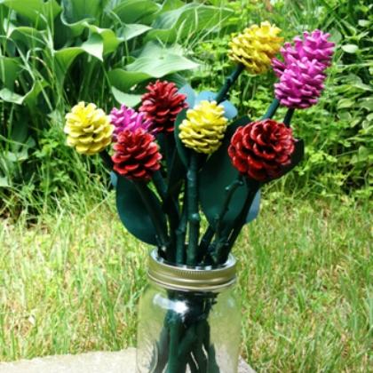 pinecone roses