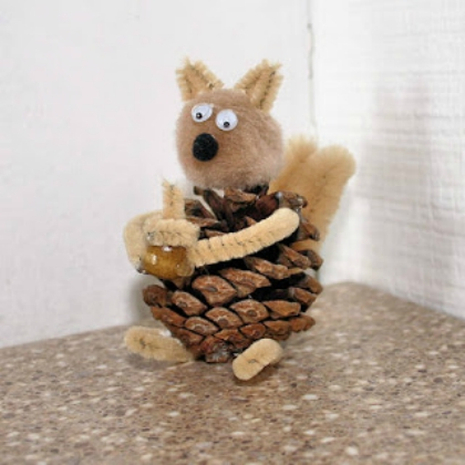 squirrel pinecone