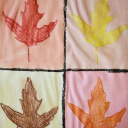 warhol leaves