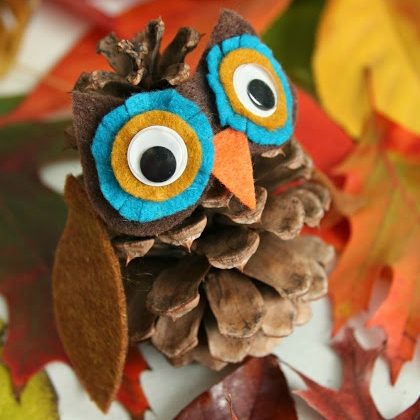 whimsy pinecone owl