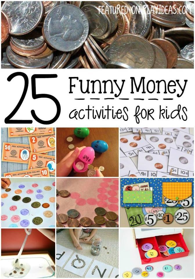 funny money activities for kids