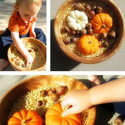 Autumn Sensory Play (Mama's Happy Hive)