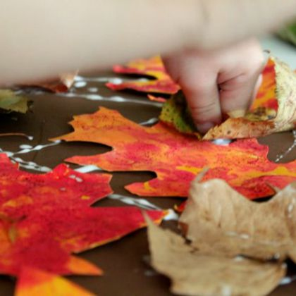 Bubble Print Leaves (Hands on as We Grow)