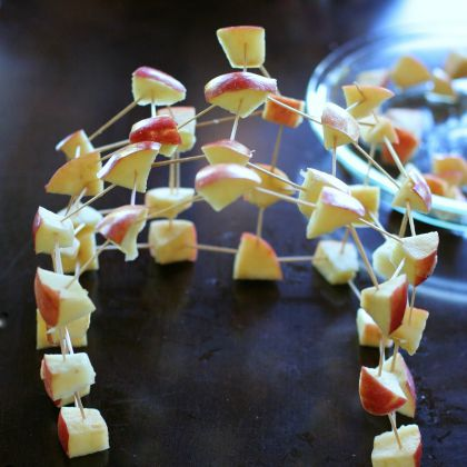 Building Apple Structures (Fun at Home with Kids)