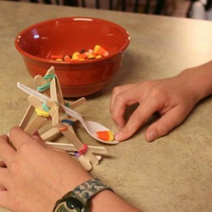 Candy Corn Catapults (Frugal Fun for Boys)