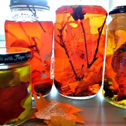 Fall Sensory Jars (Kids Play Box)