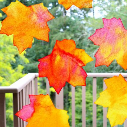 Leaf Sun Catchers (Fun at Home with Kids)