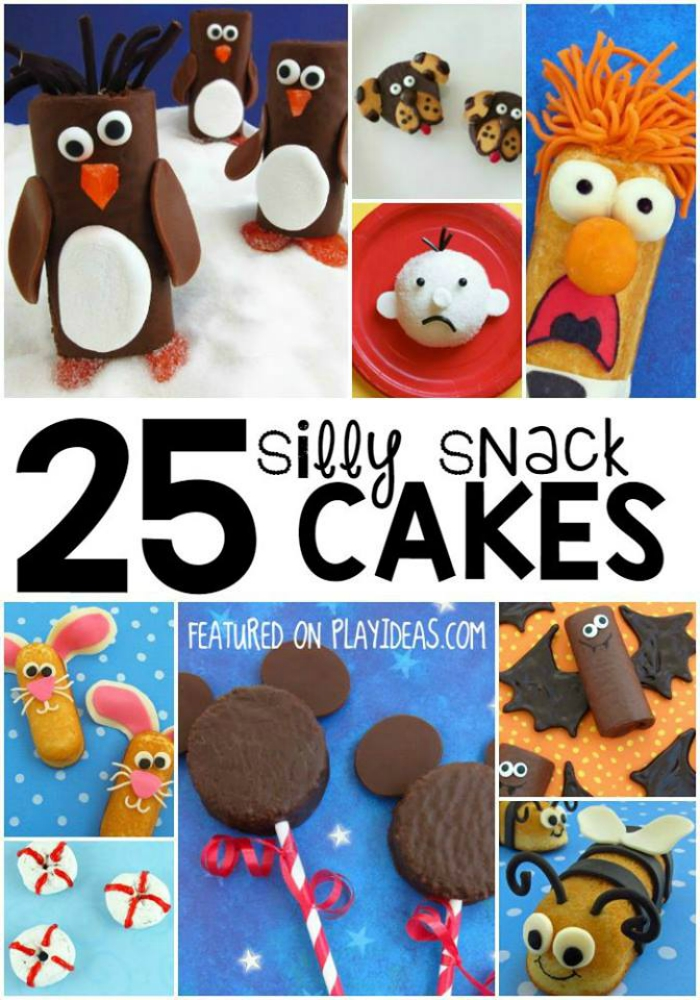Silly Snack Cakes for Kids