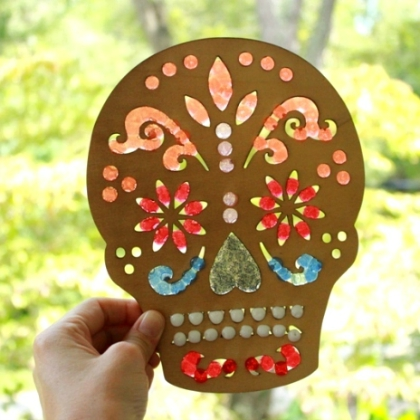 day of the dead suncatcher