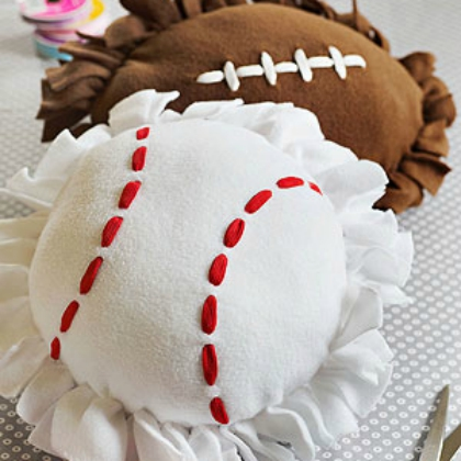 diy ball pillows