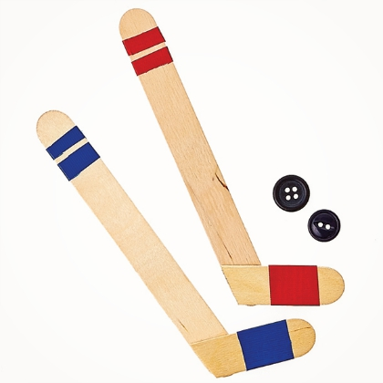 homemade hockey sticks