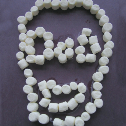 marshmallow skull craft