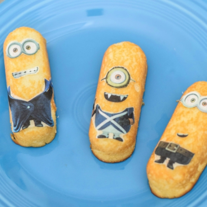 minion snack cake stickers