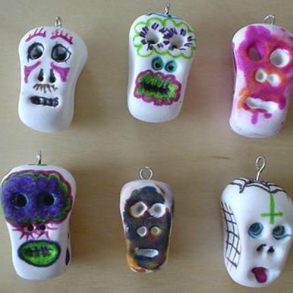 painted calaveras