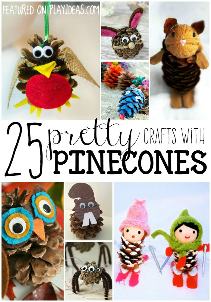 pinecone crafts for preschoolers
