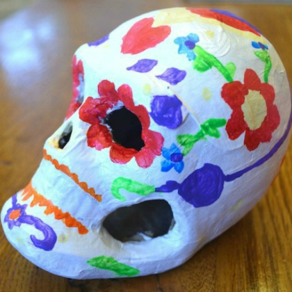skull craft for kids