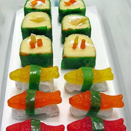 snack cake sushi