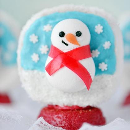 snow globe snack cake