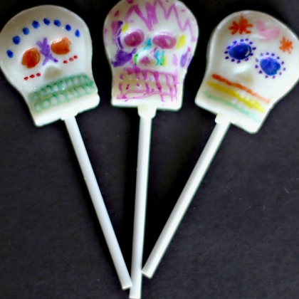 sugar skull lollypops