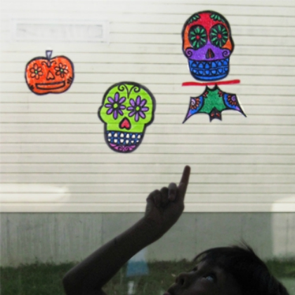 sugar skull suncatchers