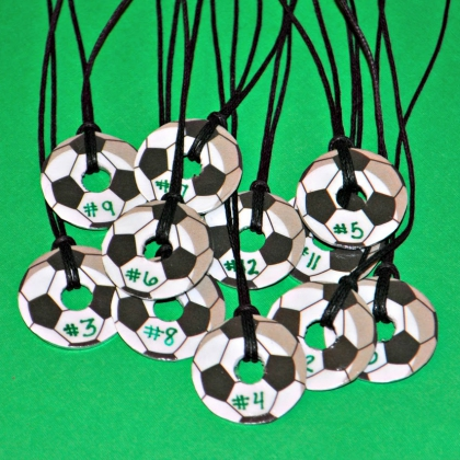 washer soccer necklaces