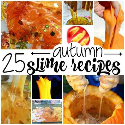 fall slime for kids