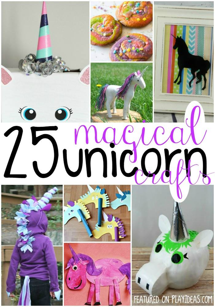 These 25 Magical Unicorn Crafts for Kids will delight the unicorn-lover in Your family. Click now!
