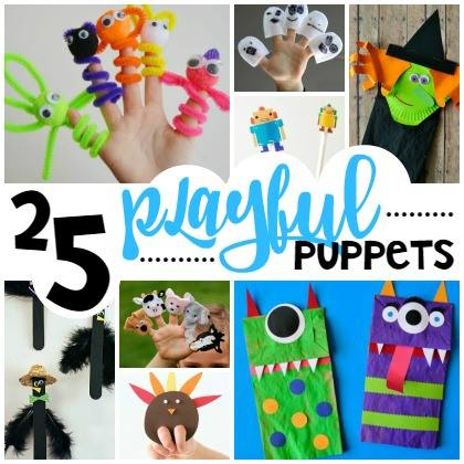 playful puppet crafts for kids