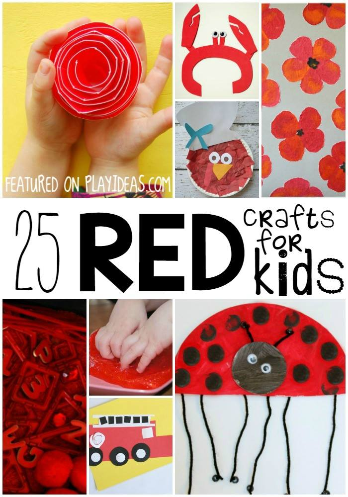 red crafts for toddlers