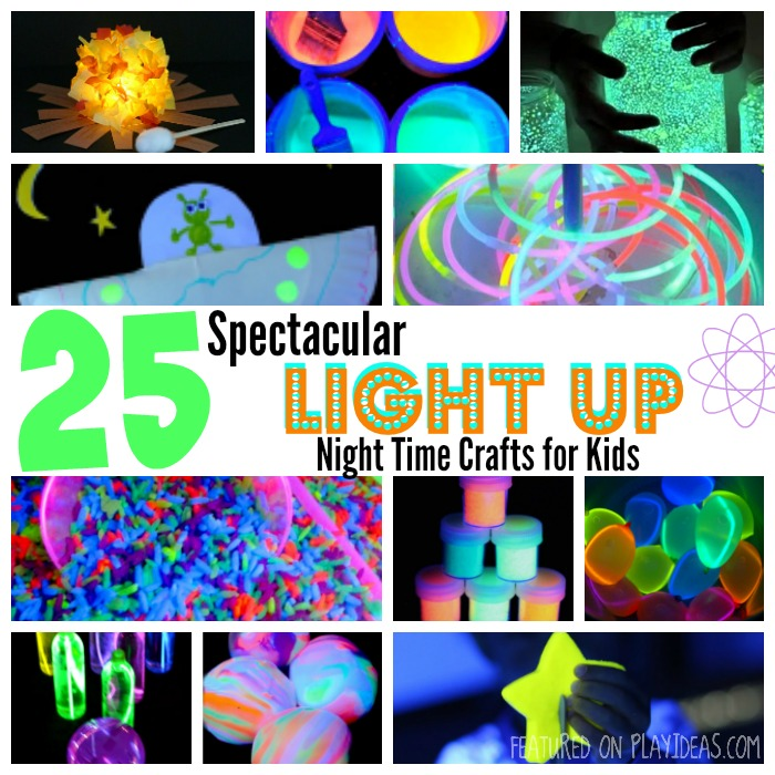 25 Spectacular Light Up Night Time Crafts for Kids Featured