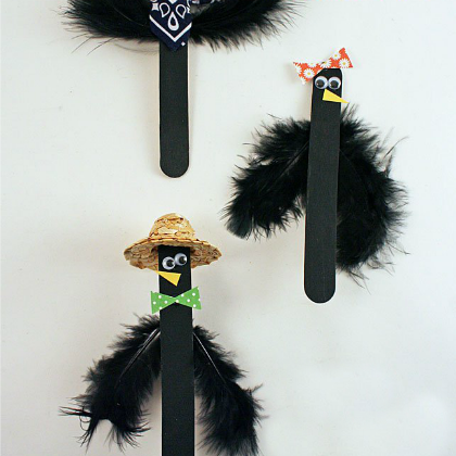craft stick crows