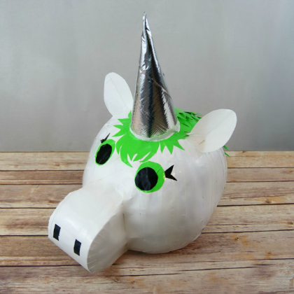 duct tape unicorn pumpkin