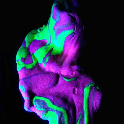 glowing swirl slime